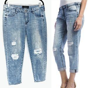 Liverpool Stockton Distressed Boyfriend Jeans Sz 8